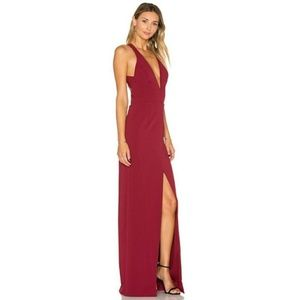 Lovers and Friends Aries Maxi in Maroon